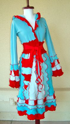Rick Rack Ruby ~ Recycled Upcycled Sweater Projects - Might have to make one of these for some sort of costume.