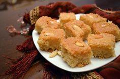 Vegan Basbousa (Semolina Cake)