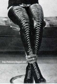 vintage thigh high Irving Klaw boots