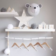 Peachy Baby blocks & bead hanger