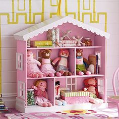 Dollhouse Bookcase from Company Store- Ben could totally build this!