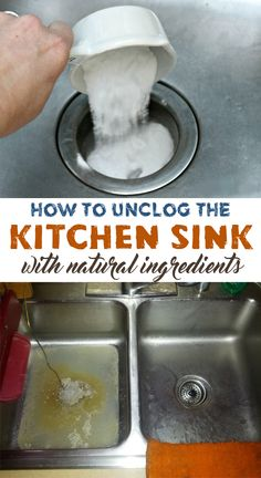 How to unclog the kitchen sink with natural ingredients - House Cleaning Routine ==