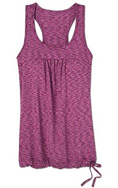 Fitness tops: Athleta Space Dye Tinker Tank, relaxed fit and love the side tie!