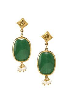 Azaara green earrings