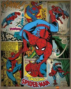 MARVEL COMICS – spider-man retro pósters / láminas  - Compra en Europosters