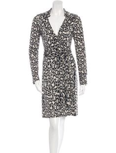 Diane von Furstenberg Leopard Print Silk Wrap Dress