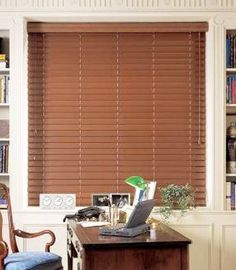 Graber 2 faux wood blinds, horizontal wood blinds 48 wide x 54 long, maple color Types Of Window Treatments, Kitchen Window Treatments, Custom Window Treatments, Graber Blinds, Bali Blinds, Horizontal Blinds, Custom Blinds, Blinds Design, Faux Wood Blinds