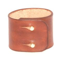 Wide leather bracelet with a brass ball closure by kutilajos, $15.00