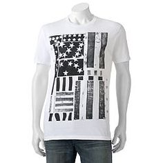 Wave the flag in a cool way with this men's Apt. 9 t-shirt. Mens Patriotic Shirts, American Flag, Graphic Tees, Mens Tops, T Shirt, Box Store, Clothes, Badass, Women