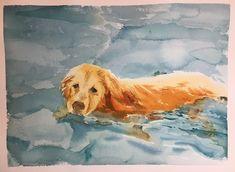 swimming dog / Saye Amebane