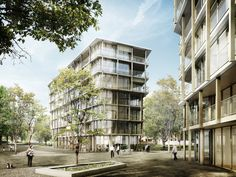 Von Ballmoos Krucker Architekten | Wettbewerb Alterssiedlung Helen Keller, Zürich | Visualisierung maaars.ch