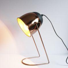 Tafellamp metaal The Go'Round koper 38cm. hoog