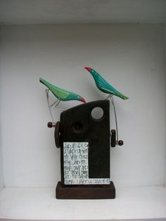 Double pecking birds by OPISHOP on Etsy, £48.00