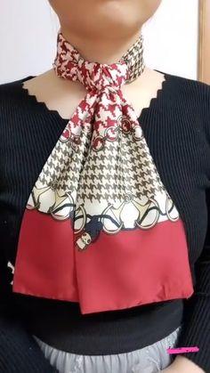Ways To Tie Scarves, Ways To Wear A Scarf, How To Wear Scarves, Scarf Wearing Styles, Scarf Styles, Modest Fashion Hijab, Fashion Outfits, Stylish Outfits, Diy Scarf