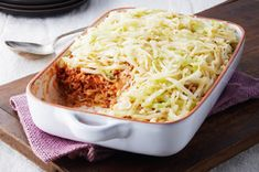 Easy Layered Cabbage Casserole recipe - You know that labor-intensive stuffed cabbage recipe you love? This brings the same cabbage, ground beef and rice goodness to the table—minus the labor but not the love.