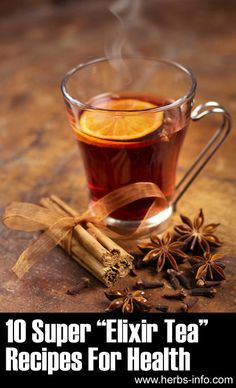 "❖ 10 Amazing ""Elixir Tea"" Recipes For Health ❖ Tastes great I tried the orange cinnamon with honey and mint recipe"