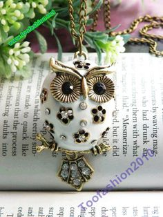 Vintage Style Owl Pendant Necklace #owl #necklace www.loveitsomuch.com