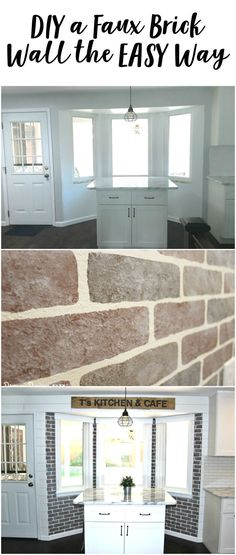 realistic faux brick wall with paint