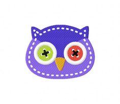 Stitched Owl Head Stitched 5