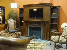 Hand crafted quality home entertainment furniture is our specialty! Choose from any of our theater, media centers, custom fireplace surrounds or bookc. Home Entertainment Furniture, Entertainment Center Kitchen, Entertainment Room, Custom Fireplace, Tv Fireplace, Healthy Meals For Two, Easy Meals, Chicken Shack, Easy Vegetarian Lunch