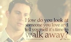 How do you walk away?