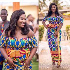 African Wear, African Women, African Dress, Kente Styles, Ankara Gown Styles, Ghanaian Fashion, African Fashion Dresses, Kente Dress, Chic Outfits