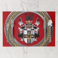 cd96f2973 300  Teutonic Order Coat of Arms Paper Placemat