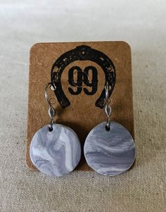 FREE SHIPPING! A beautiful set of hand made, unique polymer clay hook drop earrings. They measure approximately 20mm in diameter. Handmade Jewellery, Earrings Handmade, Unique Jewelry, Handmade Gifts, Washer Necklace, Polymer Clay, Trending Outfits, Etsy Seller, Drop Earrings