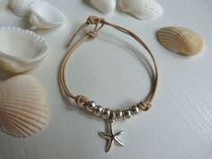 starfish leather bracelet ~~~