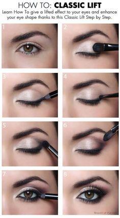 Radiant eye make-up - Beauty + Make Up - . - Radiant eye make-up – Beauty + Make Up – make up - Eye Makeup Tips, Makeup Hacks, Makeup Ideas, Makeup Eyeshadow, Eyeshadows, Makeup Trends, Easy Eye Makeup, Small Eyes Makeup, Eyeshadow Palette