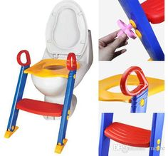 Baby Toddler Potty Training Toilet Ladder Seat Steps Safety Child Loo Chair /Children Toilet Ladder Chair Child Proof Switch Guard Stair Safety Gates
