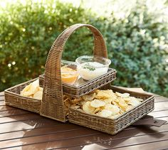 Outdoor Chip & Dip   Pottery Barn