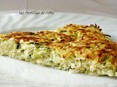 INGREDIENTES para 5-6 personas:   300 gr. de patata  300 gr. de calabacin  1/2 tarrina queso tipo filadelfia  2 huevos  50 gr. de qu...