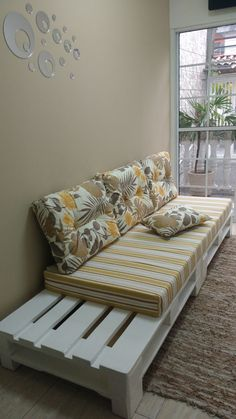Diy Furniture Couch, Diy Furniture Plans Wood Projects, Wood Pallet Furniture, Outdoor Furniture Plans, Home Decor Furniture, Furniture Design, Diy Home Decor Bedroom, Living Room Decor, Home Room Design