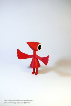 Crow with wings. Monument Valley Game. (Choose the color on Esty.)