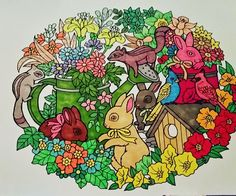 ColorIt Blissful Scenes Colorist: Shanees Gay #adultcoloring #coloringforadults #adultcoloringpages #scenes