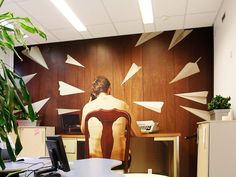 Office Design by Apricus. Print & photo by Cmykistävä. Work Office Design, Interior Ideas, Interior Design, Offices, Planes, Digital Prints, Custom Design, Space, Home Decor