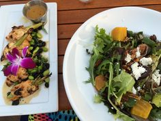 Beachcomber cafe in crystal cove lemongrass chic skewers and yummy salad