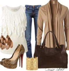 The white blouse, the outfit's cool too.