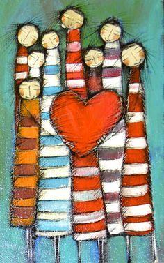 I love my pintrest friends. Ceramic Painting, Diy Painting, Heart Painting, Naive Art, Art Journal Inspiration, Heart Art, Whimsical Art, Diy Art, Folk Art