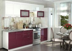 GRÉCKO kuchynská linka vo farbe granát metalic je vhodnou voľbou do moderných interiérov a domácností. Dvierka sú vyrobené z odolnej MDF dosky. Celková šírka zostavy: 260 cm. #byvanie #domov #nabytok #kuchyne  #kuchynskelinky #modernynabytok #designfurniture #furniture #nabytokabyvanie #nabytokshop #nabytokainterier #byvaniesnov #byvajsnami #domovvashozivota #dizajn #interier #inspiracia #living #design #interiordesign #inšpirácia Kitchen Cabinets, Metal, Furniture, Home Decor, Check, Restaurants, Modern, Decoration Home, Room Decor