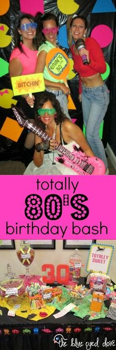 A totally awesome 80's themed birthday party! theblueeyeddove.com