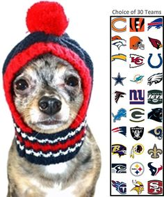 6e725e9a2 NFL Official Licensed Ski Hat for Dogs - Available in 30 NFL Team Logos