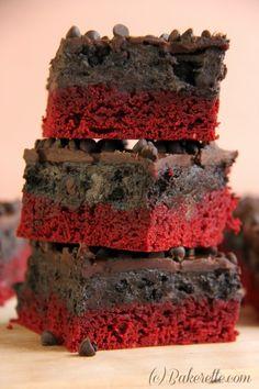Red Velvet Oreo Fudge Brownies