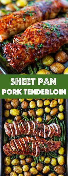 Cool Pork Tenderloin Recipe Easy Sheet Pan Dinner – No. 2 Pencil The post Pork Tenderloin Recipe Easy Sheet Pan Dinner – No. 2 Pencil… appeared first on Hey Recipes . Best Pork Tenderloin Recipe, Healthy Pork Tenderloin Recipes, Cooking Pork Tenderloin, Pork Roast, Roast Brisket, Pork Loin, Baked Pork Tenderloins, Pork Tenderloin With Apples, Pork Tenderloin Side Dishes
