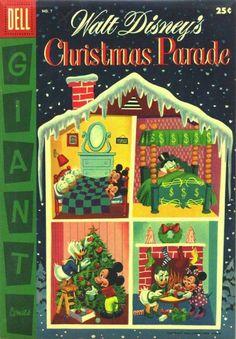 """Walt Disney's Christmas Parade"" November 1955 Disney Christmas Parade, Christmas Comics, Christmas Cartoons, Christmas Books, Christmas Pictures, Christmas History, Childrens Christmas, Retro Christmas, Vintage Christmas Cards"