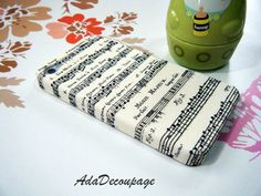 Music Sheet - iPhone 4 Case , iPhone 4s Case , Vintage Case, iPhone Cover , case. $14.90, via Etsy.