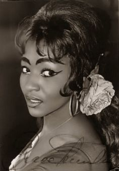 Grace Bumbry as Carmen. That explains the eyebrows!