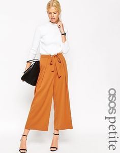 ASOS PETITE Soft Culotte with Tie Waist Detail