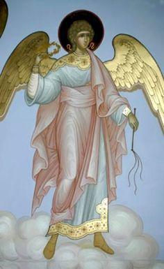 Order Of Angels, Angels Among Us, Byzantine Art, Byzantine Icons, Catholic Art, Religious Art, Archangel Prayers, Church Icon, Garden Angels